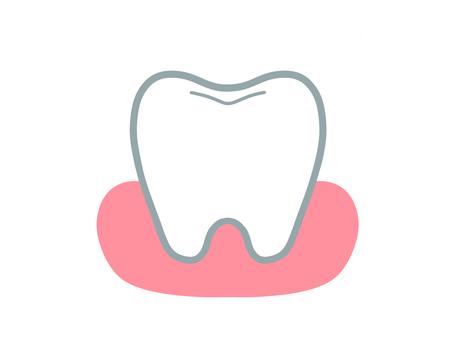 簡單的牙齒和牙齦
