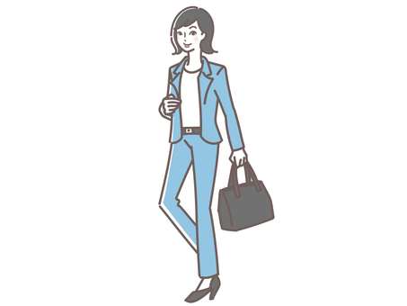 Illustration of a woman in a pant suit