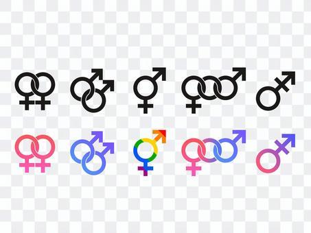 LGBT和性別圖標素材集