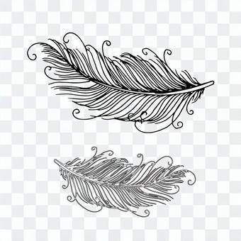 簡單的鳥羽毛矢量