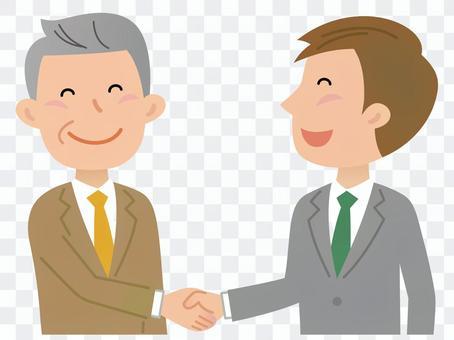 Male, handshake 2
