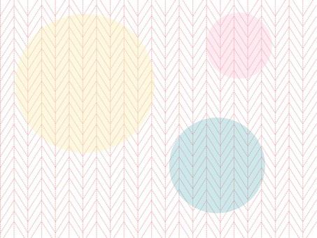 杉綾模式和 3 圈