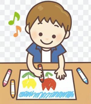 做圖畫的男孩