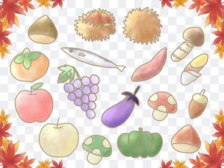 秋味美食插畫集