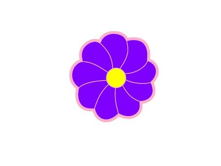 Purple flower mark icon