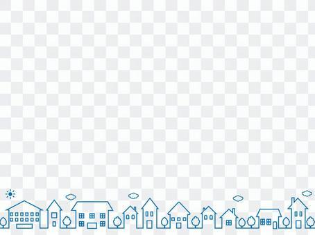 簡單的藍色城市景觀背景圖