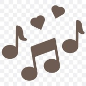 Musical note sound music sound illustration simple