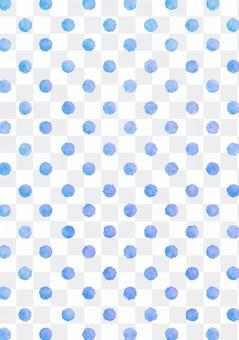 水彩虛線點紋理·藍色垂直