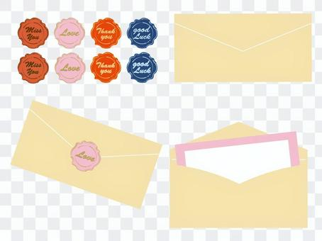 Letter set and sealing stamp