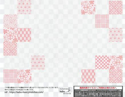 Japanese-style background material that may be used in spring