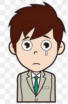 Newly recruited male employee (crying)