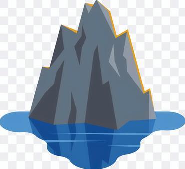 岩 海   湖 水