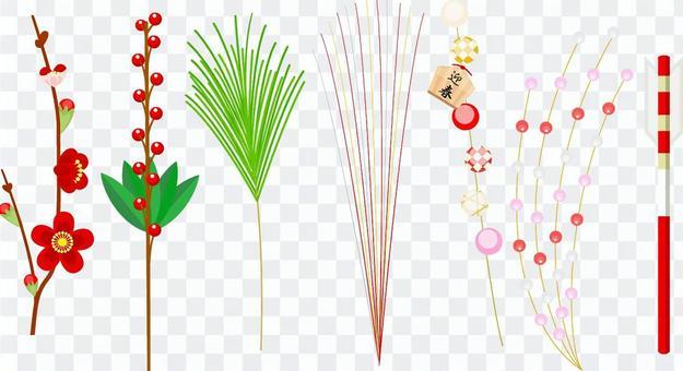 New Year decoration icon