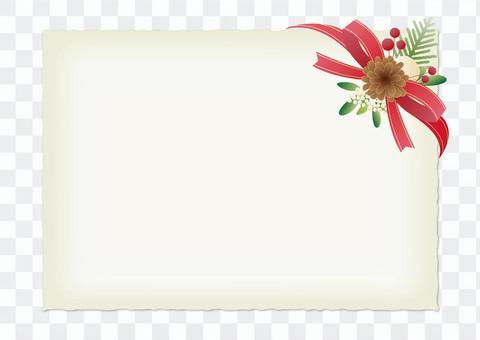 紅絲帶卡片_聖誕節