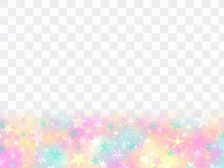 繁星點點的天空下的多彩♪