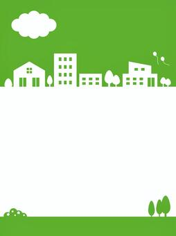 Townscape Vertical Vertical Background Green