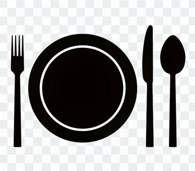 Knife fork icon 02