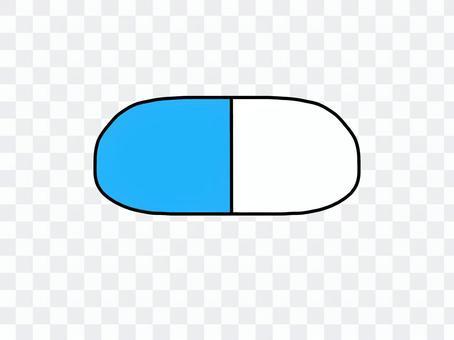 膠囊片藍色