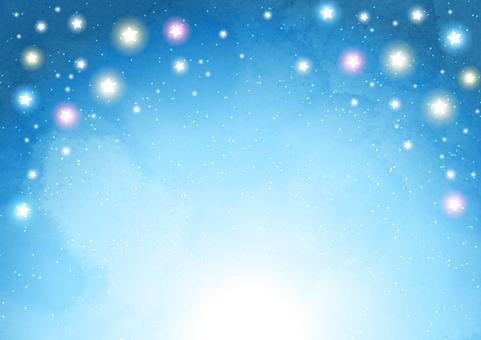 多彩明星星空背景水平