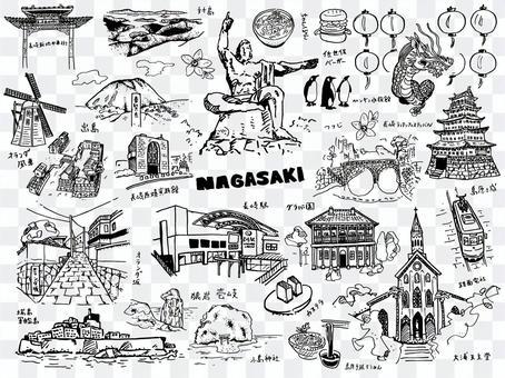 Nagasaki prefecture illustration