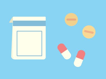 Simple and cute medicine illustration
