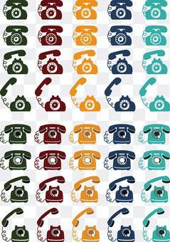 Telephone colorful