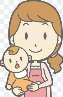孕婦半身像