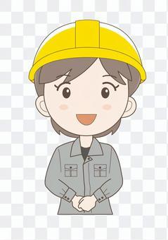 工场女性作业员E