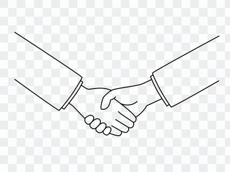 握手(畫線)