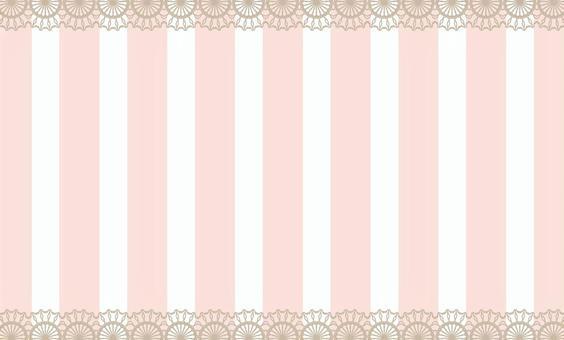 名片條紋的花邊粉紅色