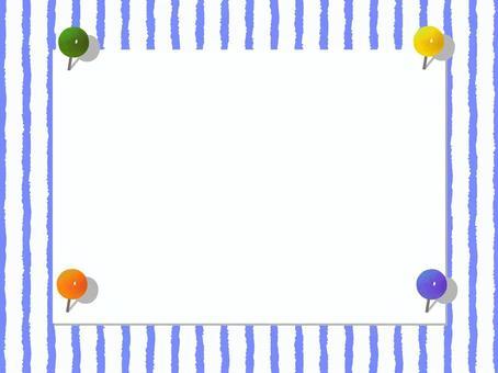 Paper frame light blue frame