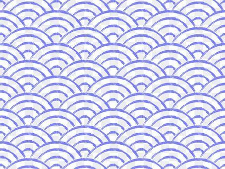 【模糊筆刷筆跡】青海波浪紋:紫色