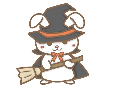 Rabbit disguised as a witch