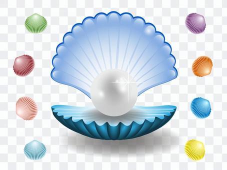 珍珠殼(藍色)