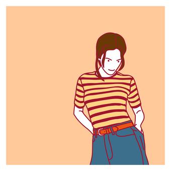 時尚女人插畫