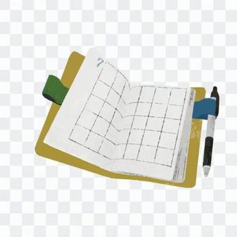 Hand-drawn notebook