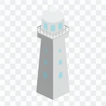 燈塔(帶窗欄杆)沒有電線