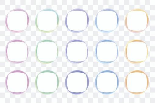레이어 색상 장식 괘 (소프트 컬러) 01