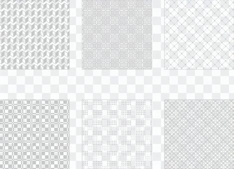 灰色簡單圖案3(透明背景)