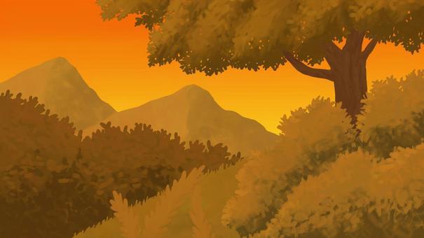 自然背景,傍晚可欣賞山景16:9