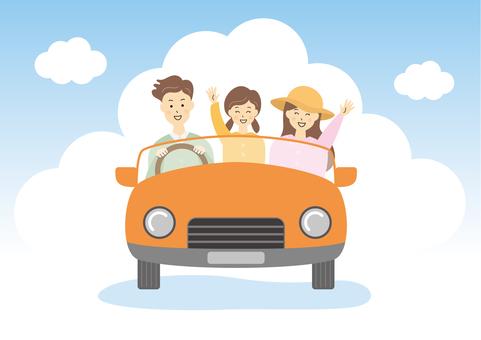家庭家庭旅行郊遊