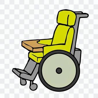 一個人坐在輪椅上的插圖,沒有人的事情