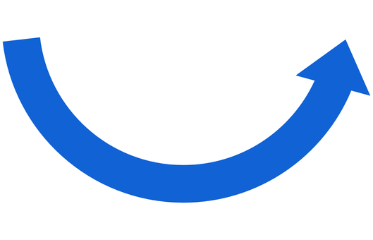 Arrow curve mountain or blue