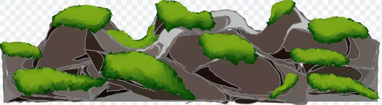 コケ コケ類 森 山 岩 岩場
