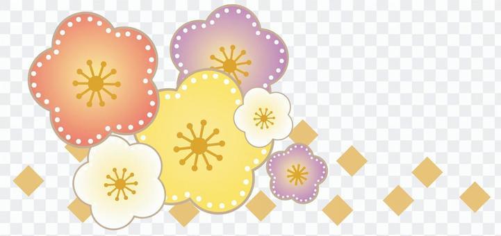 Japanese pattern plum one point