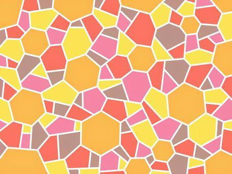 モザイク オレンジ 六角形 壁紙