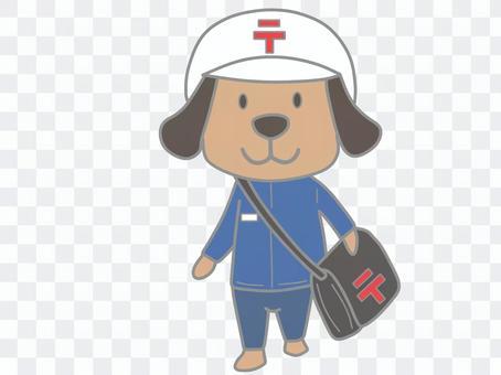 犬_郵便配達員c