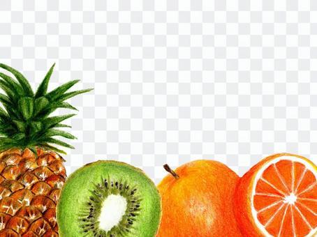 フルーツ飾り枠