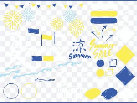 Japanese brush layout_Summer various 04