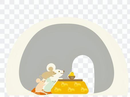 鎌倉鼠父母和孩子